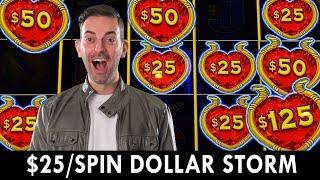 $25/Spin on DOLLAR STORM HIGH LIMIT BONUS at Coushatta Casino #ad