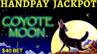 HIGH LIMIT ACTION! Coyote Moon Slot HANDPAY JACKPOT | Black Widow | Cleopatra 2 & Lighting Cash