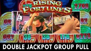 DOUBLE JACKPOT Group Slot Pull  $4600 / 23 Person  Seven Feathers Casino #ad