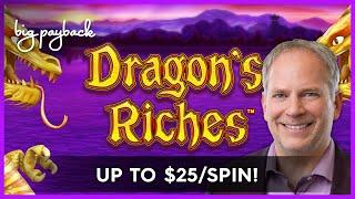 Lightning Link Dragon's Riches Slot - I HAVE THE LUCK - UP TO $25/SPIN!