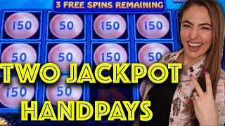TWO AWESOME HANDPAY JACKPOTS on MAGIC PEARL LIGHTNING LINK Back to Back in Vegas!