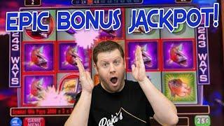 EPIC CASH COVE BONUS JACKPOT  $25 Max Bet Free Games Reel's In a Big Win!