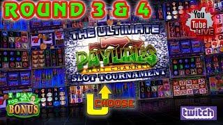 LIVE:  ULTIMATE PAYLINES SLOT TOURNAMENT  ROUNDS 3 & 4  THE SLOT MUSEUM