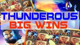• •  BIG WINS w/ MAX BET TORNADO BONUS - THUNDER KING 3 TORNADO BONUSES • •  ARISTOCRAT SLOT MACHINE