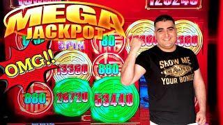 Rising Fortunes Slot Machine HUGE HANDPAY JACKPOT - $17.60 MAX BET | Buffalo Gold Revolution Bonus