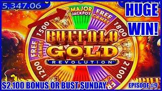 HIGH LIMIT Buffalo Gold Revolution HANDPAY MAJOR JACKPOT ️MAX BET Bonus Rounds Slot Machine Casino