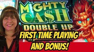 BONUS-FIRST TIME PLAYING MIGHTY CASH DOUBLE UP