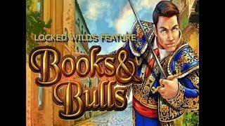 Books & Bulls Slot - Locked Wilds Big Win!