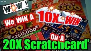 •FANTSTIC•Scratchcard Game•20x CASH•LUCKY LINES•FAST 500•MILLIONAIRE 7's•250,000 PINK.•..