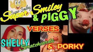 SUPER SMILEY and PIGGY VERSES....SHELLY SCRATCHCARDS and PORKY...In This CLASSIC CONTEST BATTLE