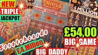 •BIG Sunday £54•Scratchcards•NEW TRIPLE JACKPOT•BIG DADDY•INSTANT £500•MONEY KINGDOM•
