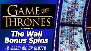 Game of Thrones slot - The Wall Bonus Feature in New Aristocrat Arc-Double game