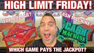HIGH LIMIT FRIDAY!!! | JACKPOT HANDPAY w/Garrett!! | $10 - $50 BETS!!! |