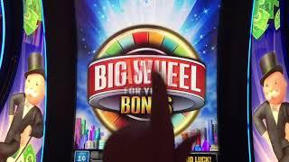 Monopoly Millionaire slot with Big Wheel Bonuses! The bonus wheel is broken!