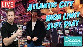 $10,000 High Limit Live Slot Play from Atlantic City!