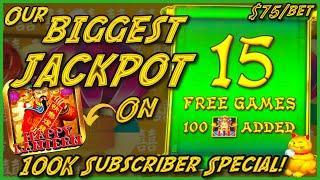 MASSIVE HANDPAY JACKPOT OVER $14K ️HIGH LIMIT Lightning Link Happy Lantern ️$75 Bonus Slot Machine