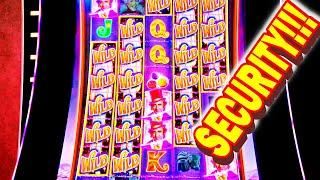 GUYS HE CALLED SECURITY ON ME!!! * THE EPICEST BEST BONUS IN THE WORLD -- Las Vegas Slot Machine Win