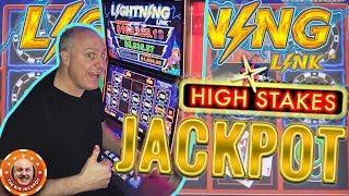 CHIP BONUS! MASSIVE HANDPAY! Lightning Link High Stakes Slot
