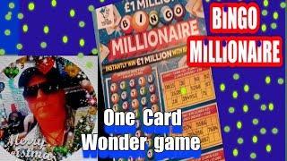 BINGO MILLIONAIRE..Scratchcard......   One Card Wonder Game..