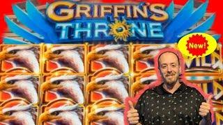 •GRIFFINS THRONE• Slot Live Play• (Lots of Features)
