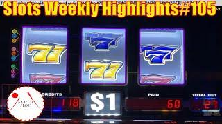 Slots Weekly Highlights#105 for You who are busy High Limit Slot Machine 赤富士スロット San Manuel Casino