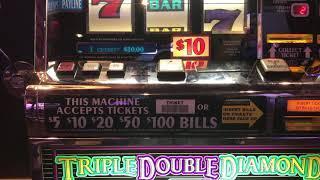 Triple Double Diamond Slot - High Limit - $20/spin - Jackpot Handpay