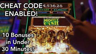 The BONUS SWITCH is TURNED ON on Mighty Cash Double Up!  Chasing the Maxi Jackpot #SlotVulture