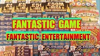 FANTASTIC  GAME & ENTERTAINMENT..£50M Mega Showdown.Rainbow BINGO.MONEY SPINNER.INSTANT £100.WIN £50