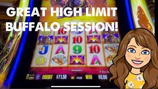 High Limit Buffalo Gold High Limit Handpay Jackpot! Nice Session at Cosmo!