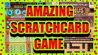 AMAZING GAME..SCRATCHCARDS..CASHWORD BONUS..REDHOT BINGO
