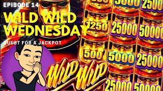 WILD WILD WEDNESDAY! QUEST FOR A JACKPOT [EP 14]  WILD WILD SAMURAI Slot Machine (Aristocrat)