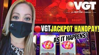 VGT JACKPOT HANDPAY!  HOT RED RUBY!SHE WAS NICE TO ME ON A VGT SUNDAY FUN'DAY! I'M BACK!