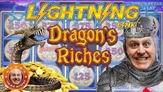 $12.50 BETS •Raja's Riches on Lightning Link Dragon's Riches! •FILL IT UP! | The Big Jackpot