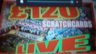 """£120 Scratchcards """"L I V E """"VIEWERS CAN JOIN IN..Pick a Card"""