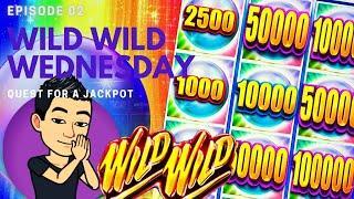 WILD WILD WEDNESDAY! QUEST FOR A JACKPOT [EP 02]  WILD WILD PEARL Slot Machine (Aristocrat)