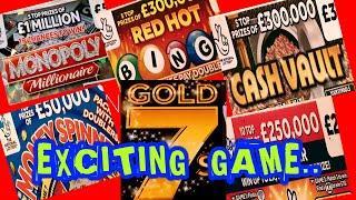 "Start Of £200 SCRATCHCARD GAME..NEW CASH 7s DOUBLER""FULL £500s.OLDER CASH 7s..New £500,000 Jp CARD"
