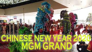 2020 Chinese New Year Lion & Dragon Dance MGM Grand Las Vegas