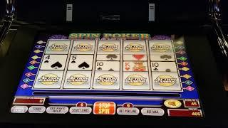 $45/hand Spin Video Poker HIGH LIMIT Double Double Bonus
