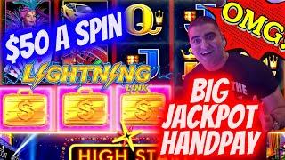 BIG JACKPOT HANDPAY On High Limit Lightning Link Slot Machine - $50 A Spin | SE-9 | EP-17