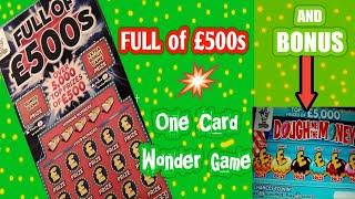 Full of £500s.....and   BONUS scratchcard  .... in our .. One Card Wonder Game