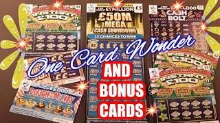Scratchcards..£50 Million Cash Showdown..& .Bonus Scratchcards..mmmmmmMMM..says