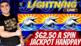 $62.50 A Spin HANDPAY JACKPOT On High Limit Lightning Link Slot | Las Vegas Casino JACKPOT | EP-18