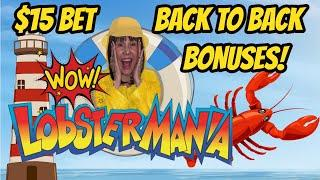 BACK TO BACK BONUSES! High Limit Lobstermania Larry's Back with the Wins