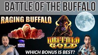 Which Buffalo Slot Machine will give us the better BONUS? Raging Buffalo & Buffalo Gold