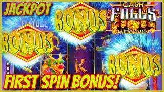 High Limit Cash Falls Huo Zhu & Pirate's Trove HANDPAY JACKPOT $50 MAX BET Bonus Round Slot Machine