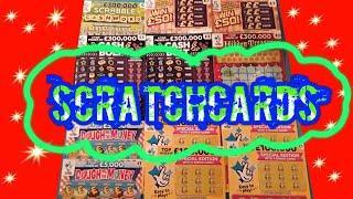 "Scratchcards.WhooooOOOOOOO..its aof a Game...""HIDDEN TREASURE""CASH BOLT""SCRABBLE"".Win £50"""