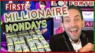 MILLIONAIRE MONDAYS   Top Prize of $1000000  Big Bang Theory & Wheel of Fortune Slot Pokies