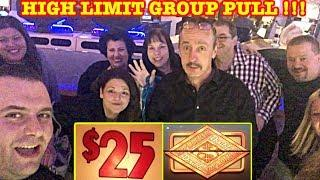 HIGH LIMIT GROUP PULL  $25 DENOM  DOUBLE TOP DOLLAR  WHEEL OF FORTUNE