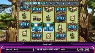 AFRICAN THUNDER Video Slot Casino Game with a PHOTO SAFARI FREE SPIN BONUS
