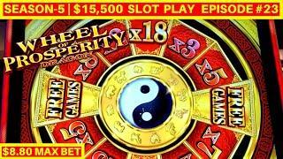 NEW Slot ! Wheel Of Prosperity Dragon Slot Machine $8.80 Max Bet Bonuses | Season 4 | Episode #23